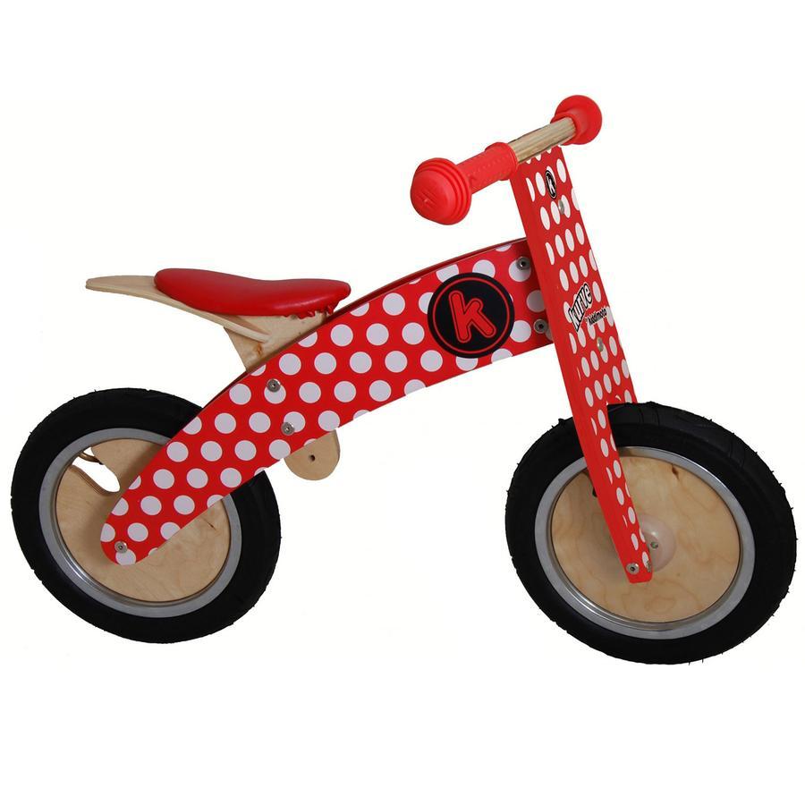 kiddimoto® Premium Laufrad - Pünktchen rot