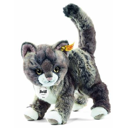 STEIFF Katt 25 cm grå/beige
