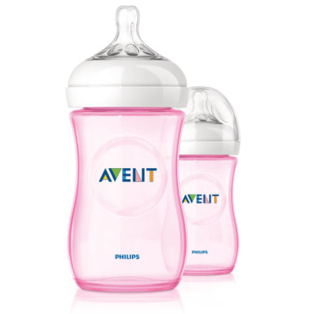 AVENT Biberon 260ml rose Lot de 2