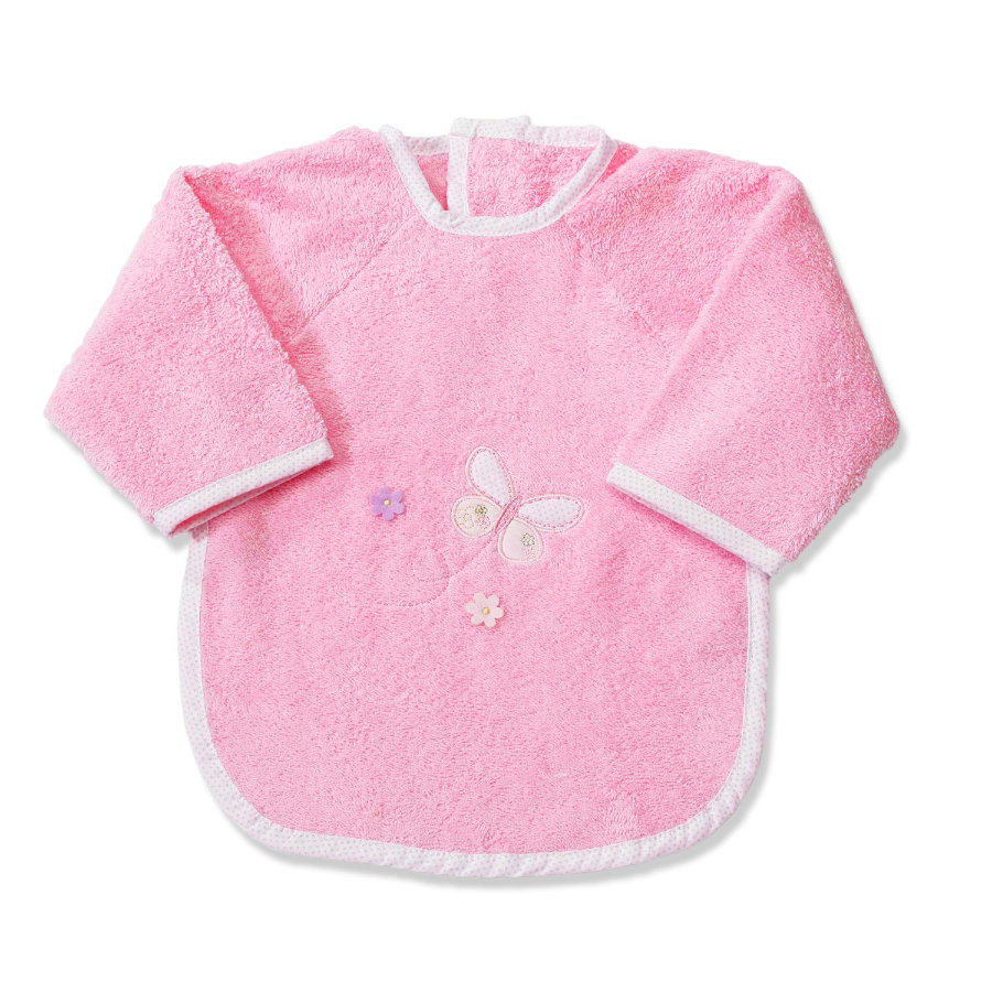Easy Baby Terry Sleeved Bib - Butterfly Rose