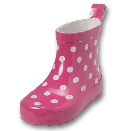 Playshoes Gummistiefel Halbschaft Punkte pink