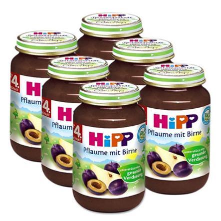 HIPP Bio Plum with Pear, 6 x 190g