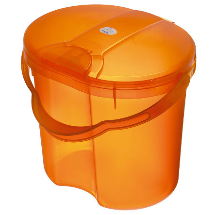 Koš na pleny ROTHO TOP Translucent Orange