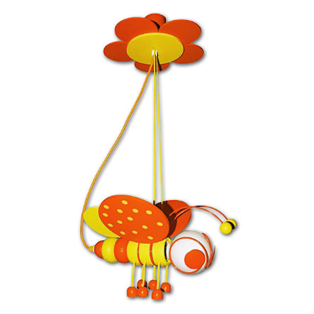 WALDI Suspension Abeille, orange/jaune 1 ampoule