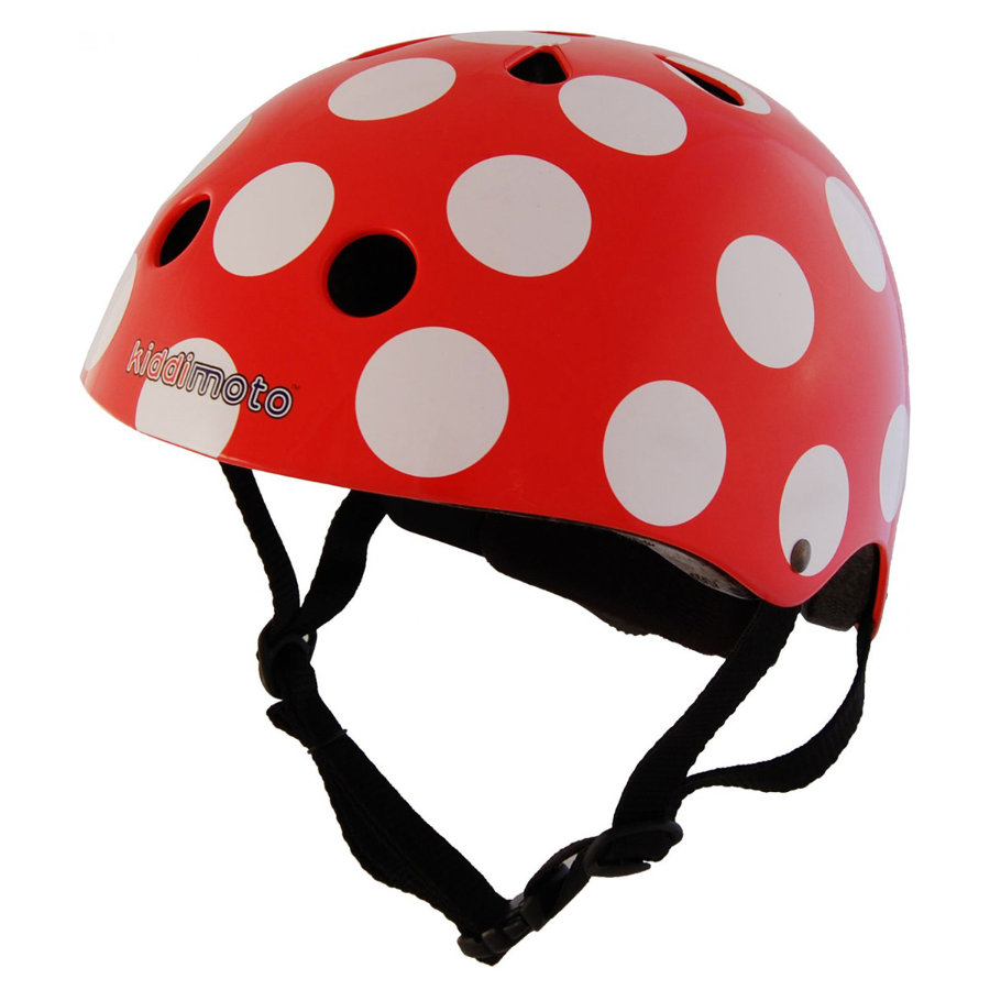 kiddimoto® Fahrradhelm Red Dotty - S