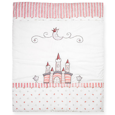 ALVI Embroidered Baby Blanket Traumschloss - rosa