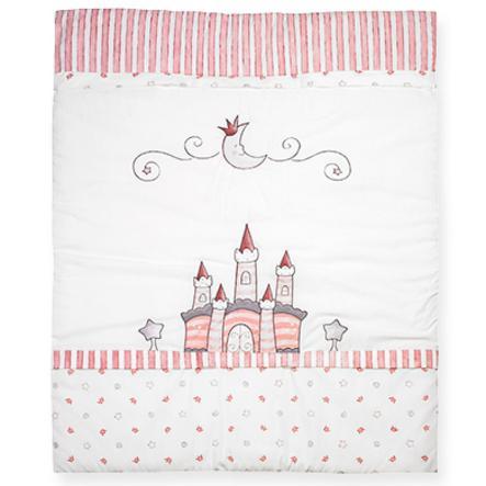 ALVI Krabbeldecke mit Stickerei Traumschloss rosa 550-2