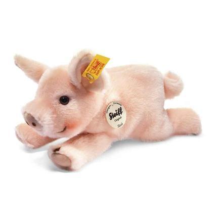 STEIFF Steiff's kleiner Freund Schweinchen Sissi, liegend, 22 cm