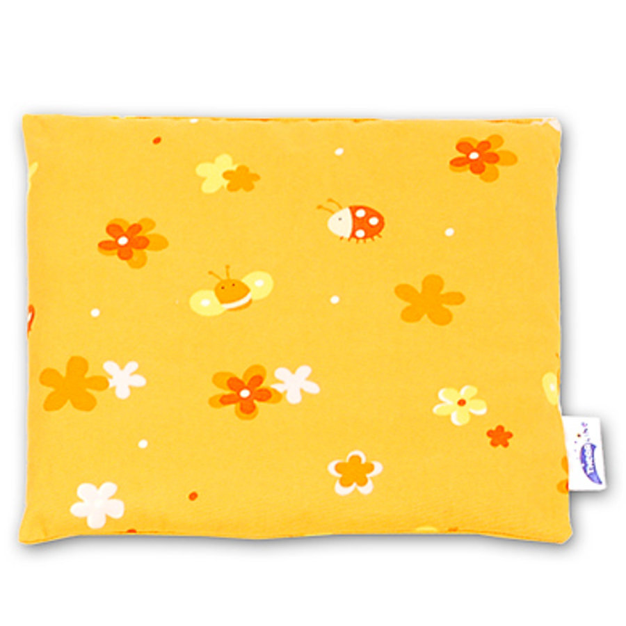 THERALINE Kirschkernkissen 23x26cm Design Blumenwiese orange (86)