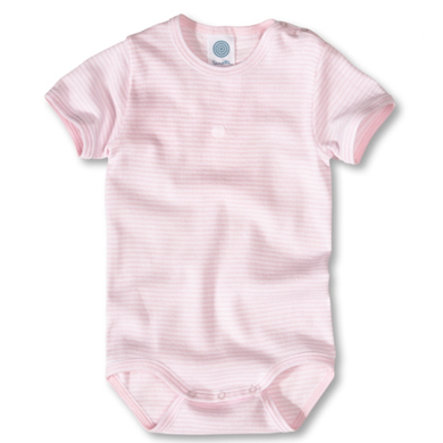 SANETTA Girls Baby Body RANDIG ROSE