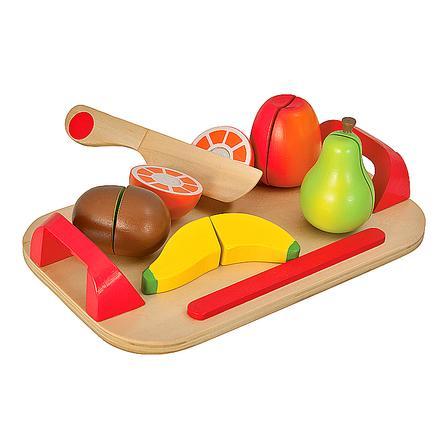 Eichhorn Planche à découper enfant fruits bois 12 pièces