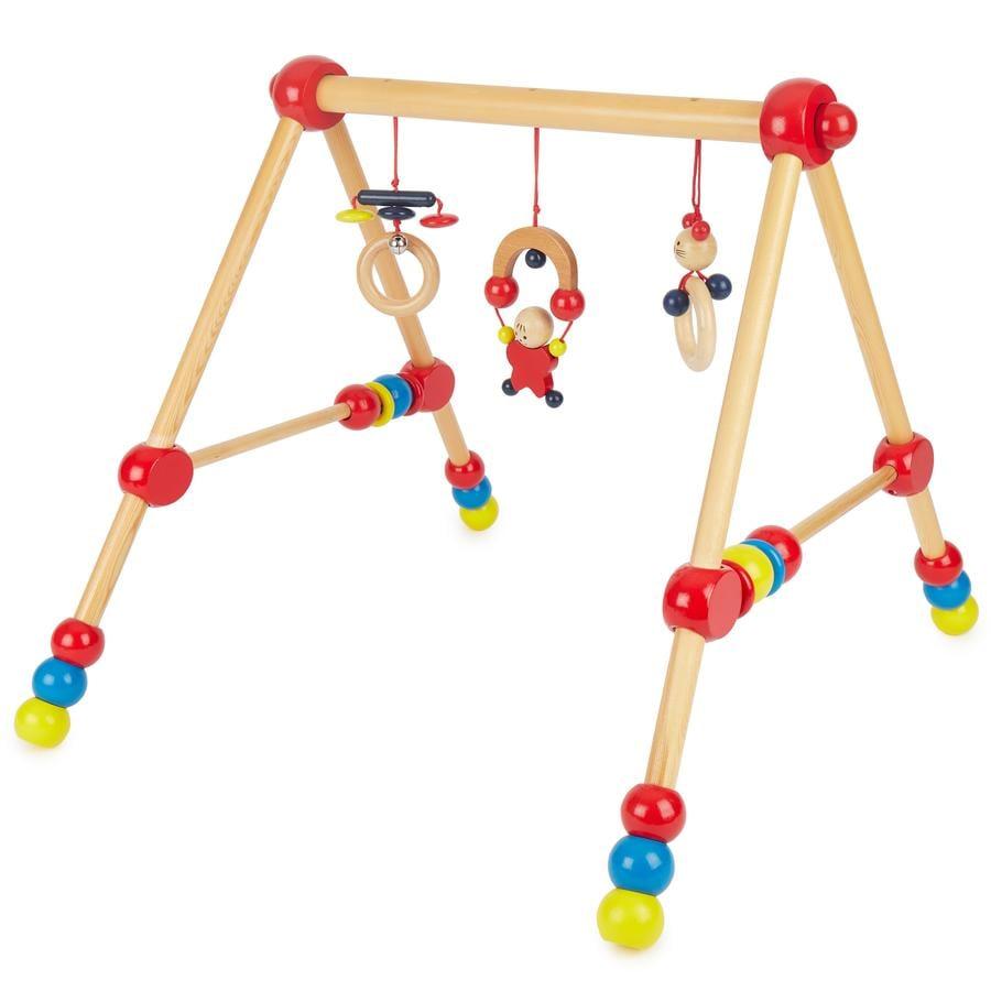 BIECO Gimnasio de madera para bebés, altura regulable