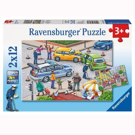 RAVENSBURGER Puzzle 2x12 Wypadek drogowy
