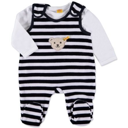 STEIFF Baby Velour Rompers Set 2 pcs. navy