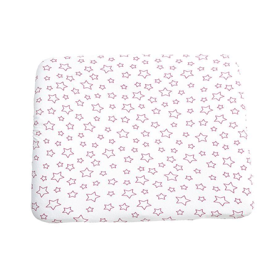 ODENWÄLDER Frottee Wickelauflagenbezug 75x85cm Sterne pink
