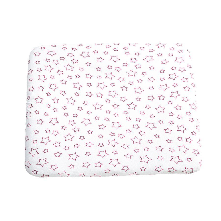 ODENWÄLDER Housse de matelas à langer en tissu éponge, 75 x 85 cm, Étoiles rose vif