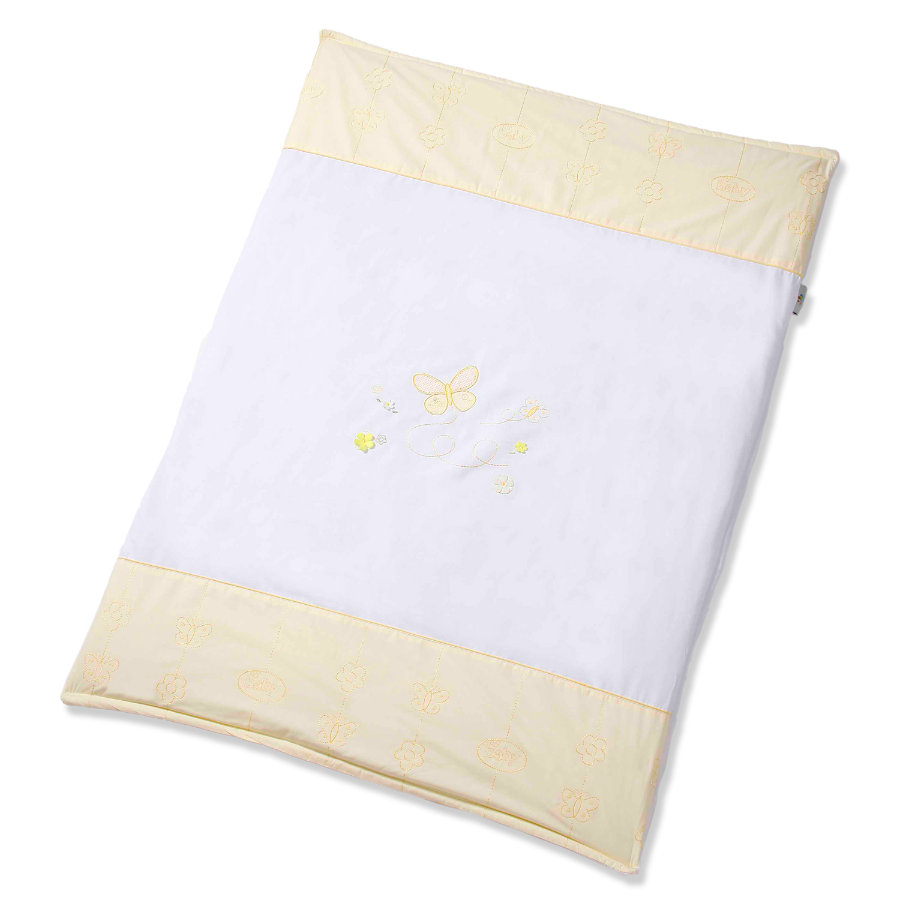 Easy Baby Couverture de jeu Butterfly Yellow 100x135cm (460-86)