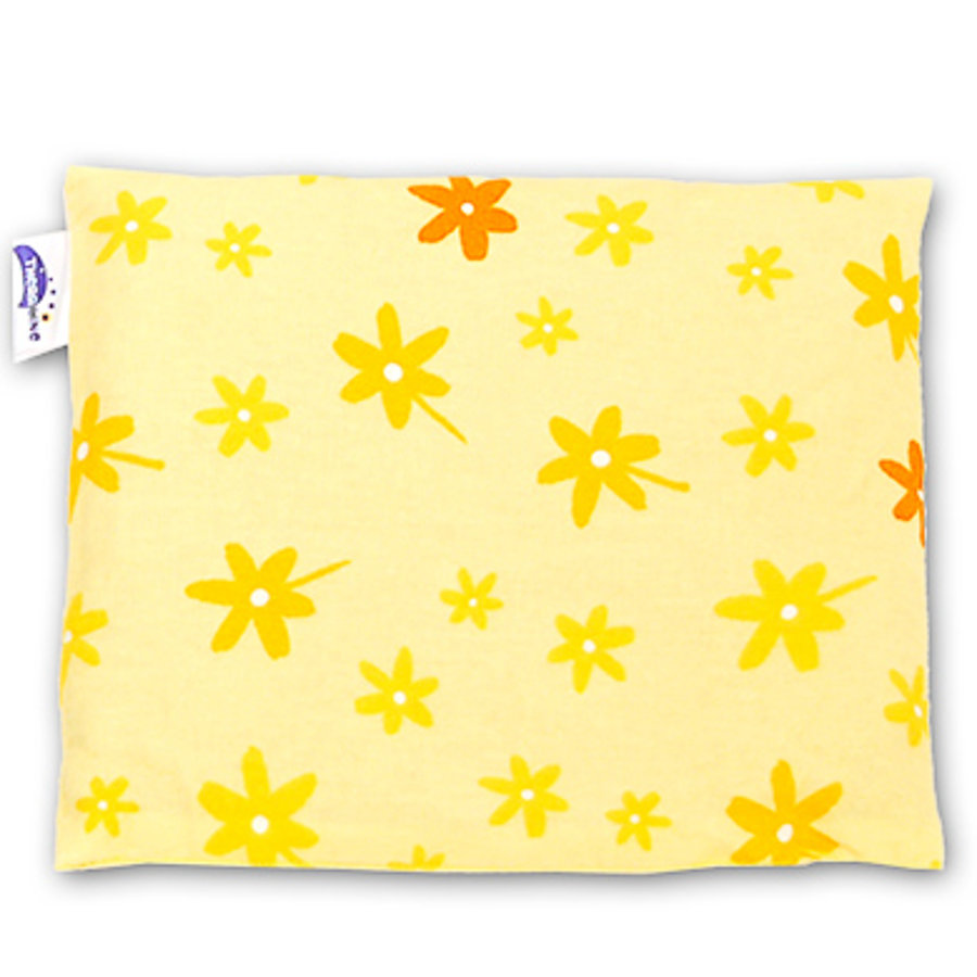 THERALINE Cherry Stone Pillow 23x26cm Design Flower Yellow