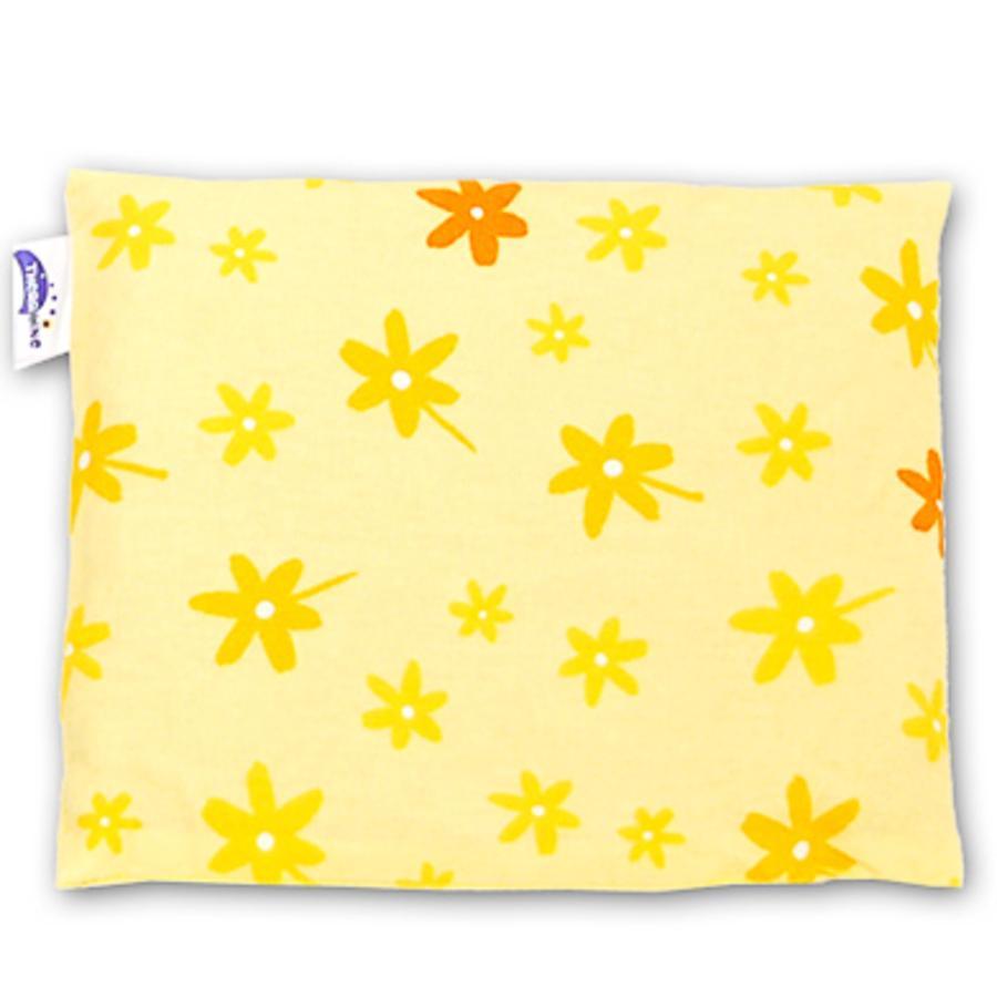 THERALINE polštář plněný třešňovými peckami  23x26cm design květiny žluté (41)