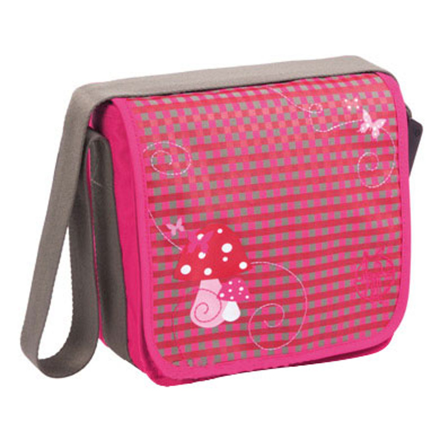 LÄSSIG Mini Messenger Bad Classic Design Mushroom magenta