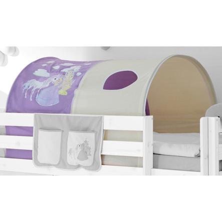 TICAA Tunnel per letto rialzato o a castello - Il cavallo magico - Lilla/Beige