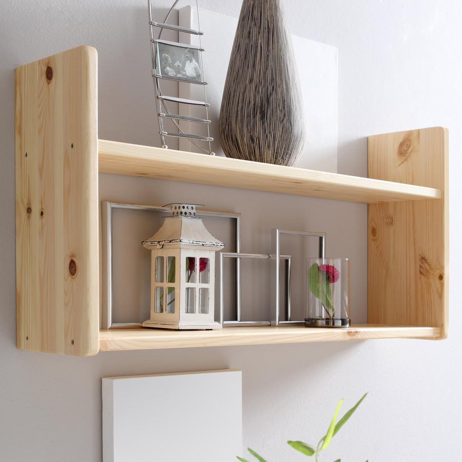 ticaa wandregal kiefer natur 2 b den breit. Black Bedroom Furniture Sets. Home Design Ideas