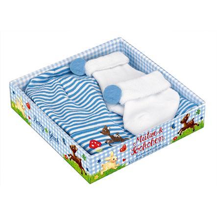 COPPENRATH Geschenkset Muts en sokken, lichtblauw - Babygeluk