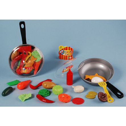 JOHNTOY Pan with Play Food