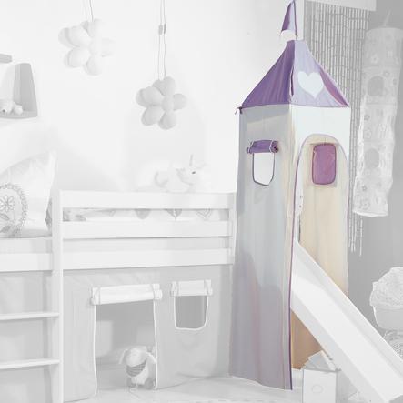 Relita Turm Set klein purple / weiß Herz