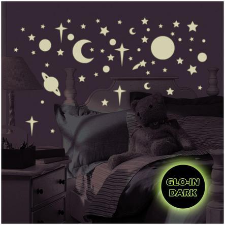 ROOMMATES Seinätarra Tähtitaivas (loistaa pimeässä - Glow-in-the-dark)