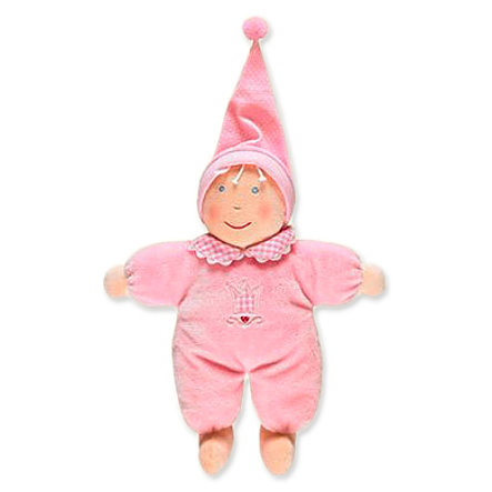 SPIEGELBURG Lalka przytulanka Baby Glück kolor różowy