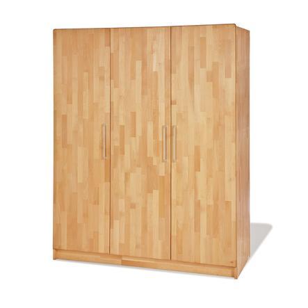 PINOLINO Garderob Natura med tre dörrar
