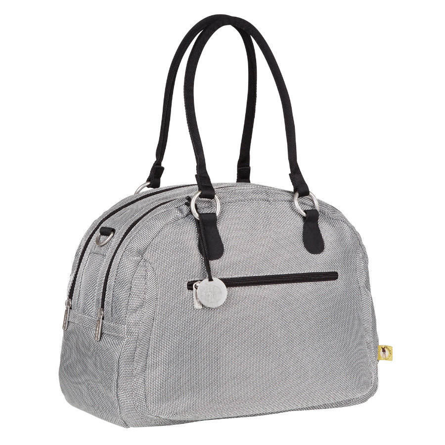 LÄSSIG Goldlabel Wickeltasche Bowler Bag Design Metallic Silver