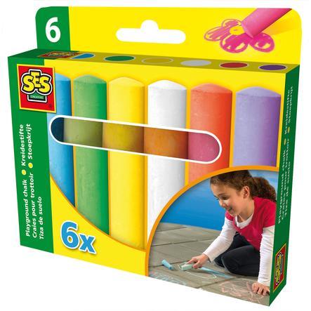 SES Creativ Farvekridt til gaden, 6 stk