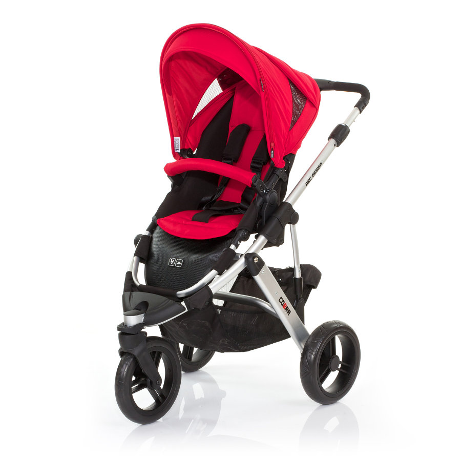 ABC DESIGN Kinderwagen Cobra cranberry Gestell silver / black