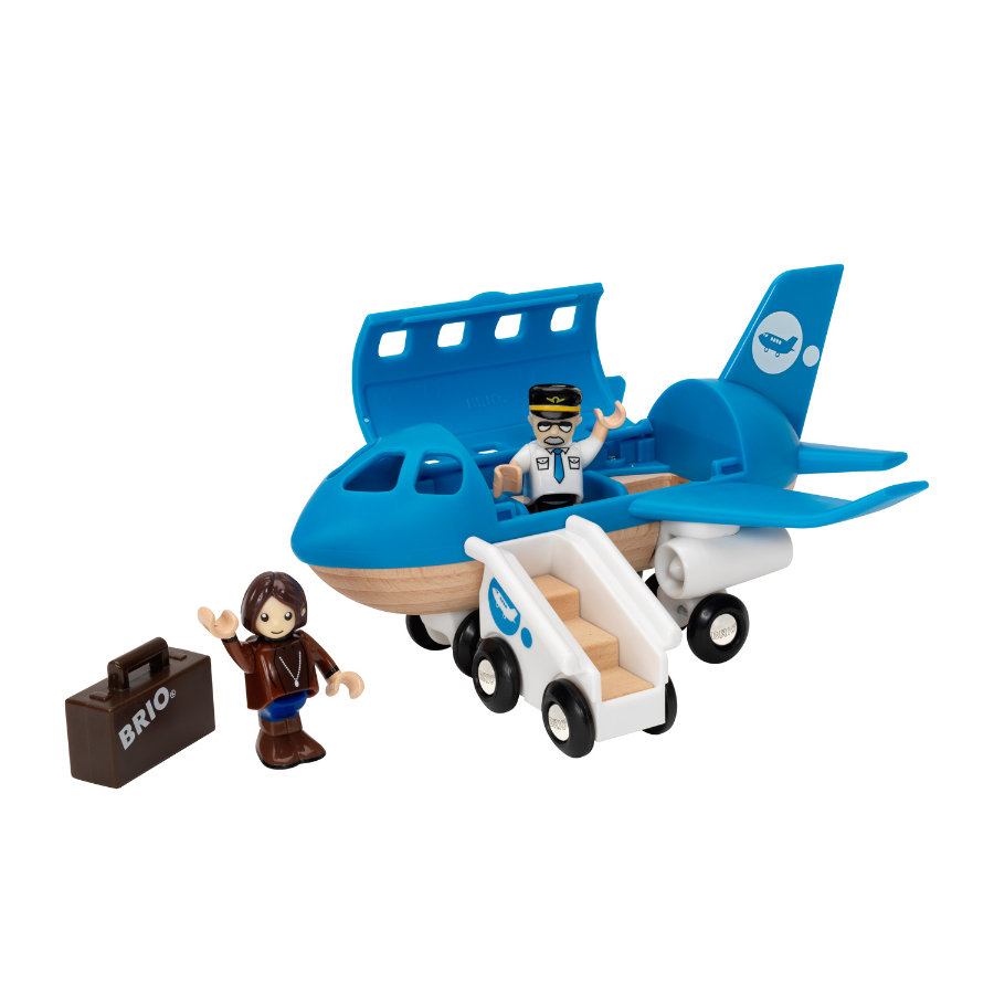 BRIO® WORLD Blaues Flugzeug