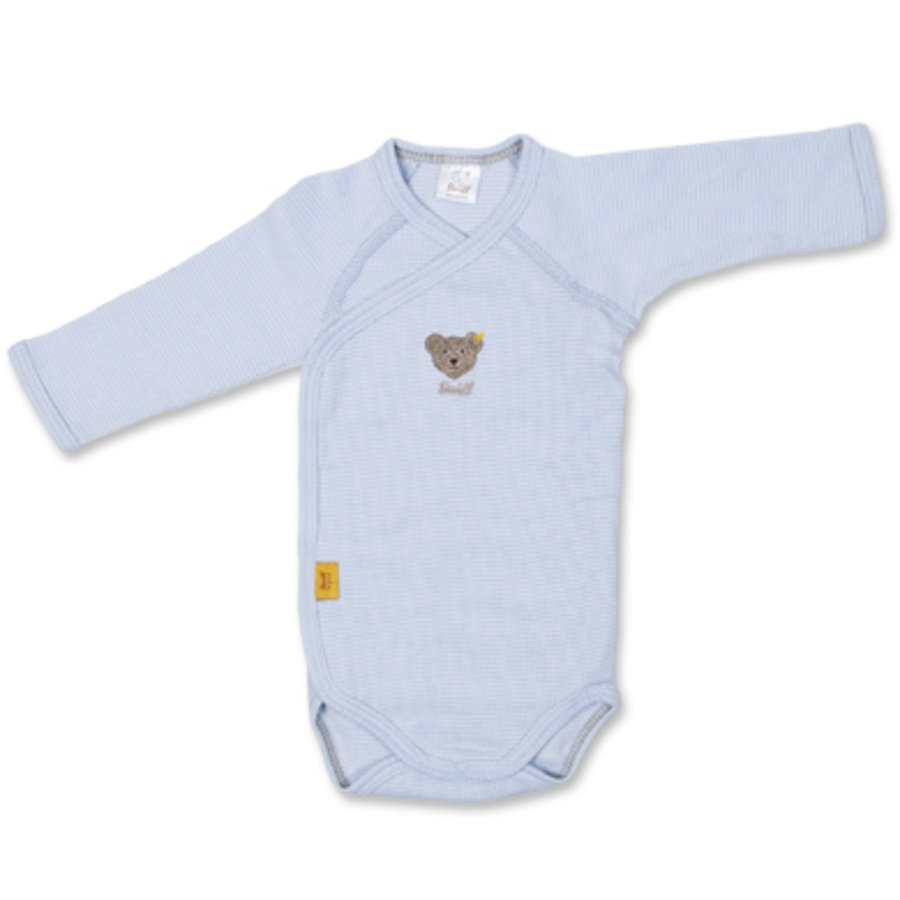 STEIFF Long Sleeved Wrap Baby Bodysuit baby blue
