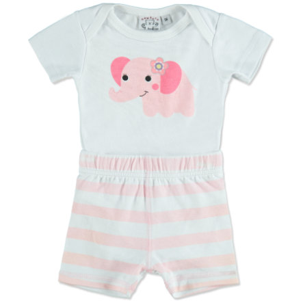 MAX COLLECTION Baby Body + Shorts ELEFANT rosa