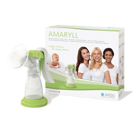 ARDO Amaryll Manuální odsávačka mateřského mléka, sada, bílo/zelená