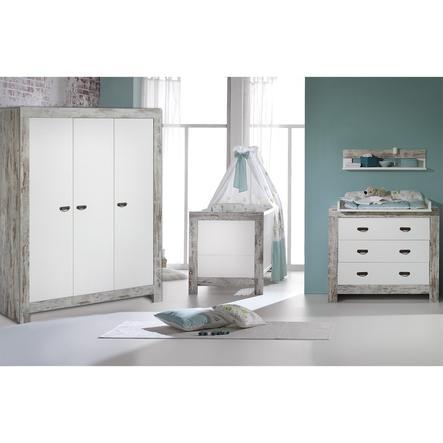 Schardt Chambre d'enfant, armoire 3 portes Nordic Chic blanc/naturel