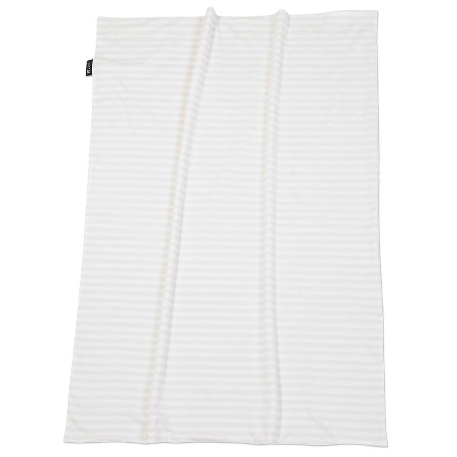 ALVI Babydecke Jersey Blockstreifen beige 75 x 100 cm