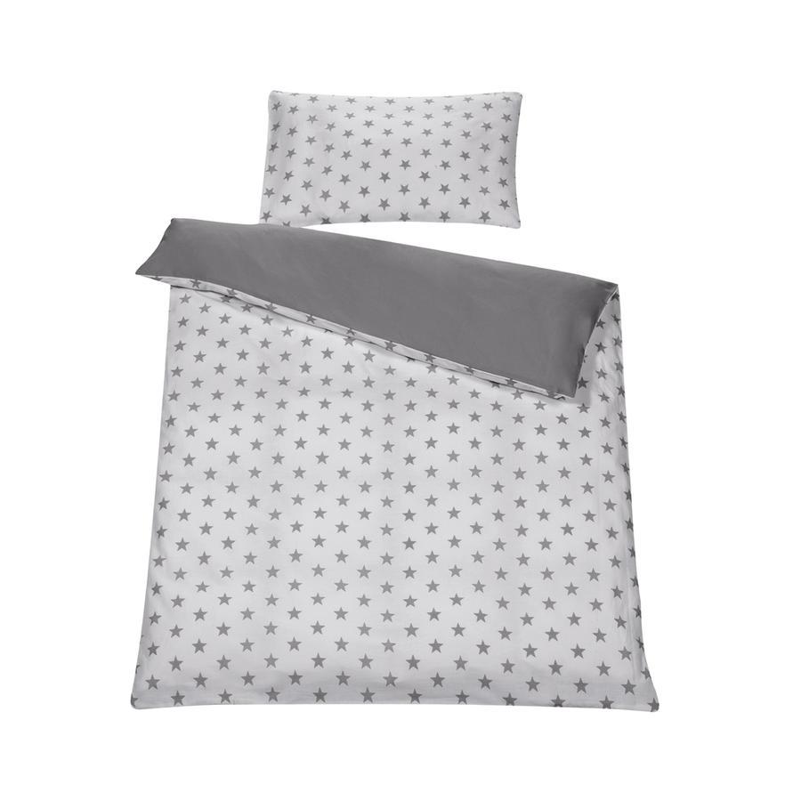 SCHARDT Parure de lit réversible 2 pièces Big Stars grise