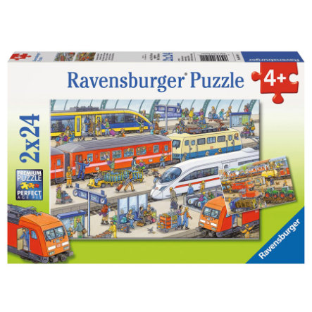 RAVENSBURGER Puzzle - Caos in stazione  2x24 pezzi 09191