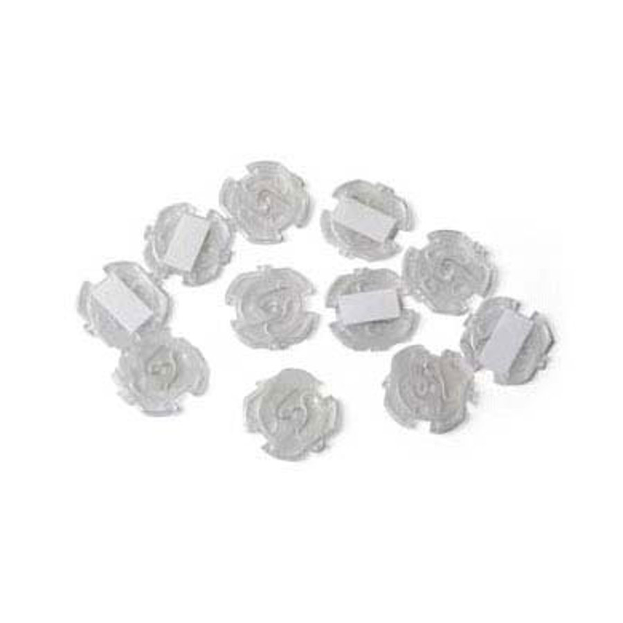 REER Adhesive Electrical Outlet Cover Clear - 10 Pieces