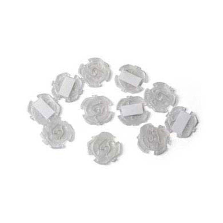 REER Protezione per presa della corrente - adesivo - 10 pezzi - Trasparente