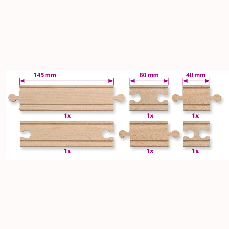 EICHHORN Treinbaan rails-assortiment