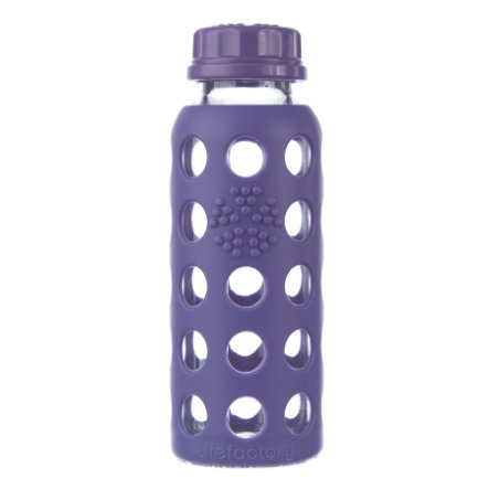 "LIFEFACTORY Glazen Drinkfles ""royal purple"" 250ml"