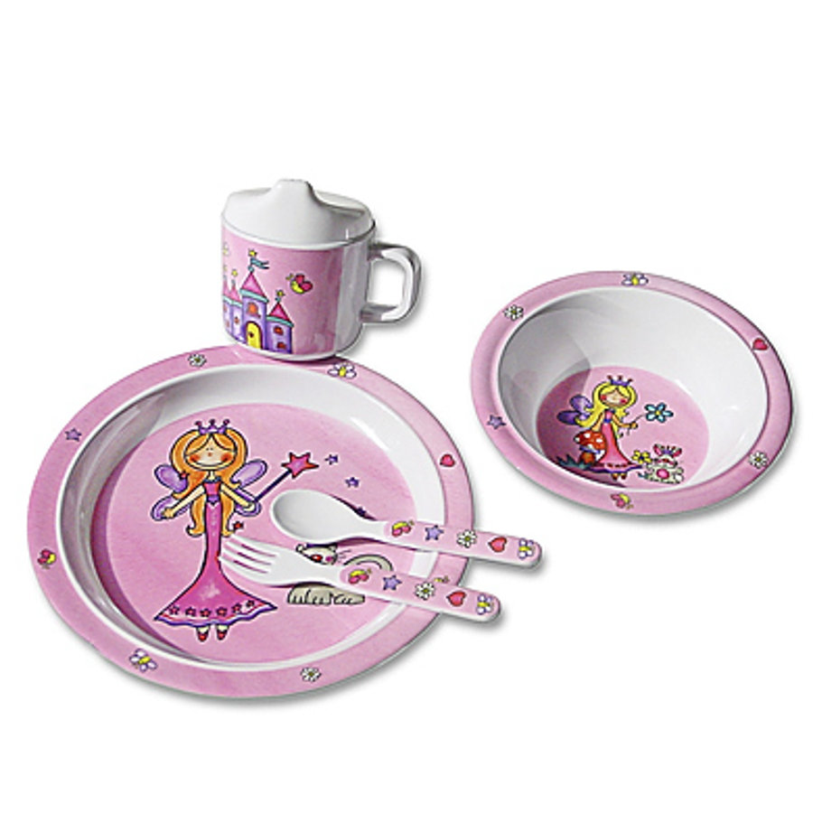 BIECO 5 Piece Melamine Dinner Set - Princess