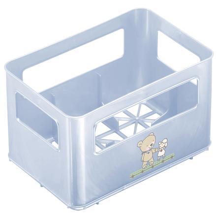 Rotho Babydesign Flaschenbox für Weithalsflaschen Beste Freunde babybleu perl