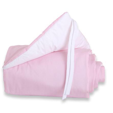 TOBI BABYBAY Spjälsängsskydd Original rosa/vit